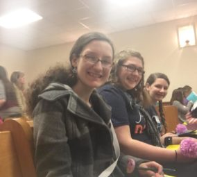 Girls at Area-Wide Youth Devotional