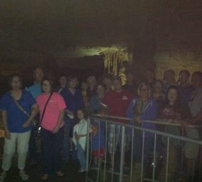 Group in Cathedral Caverns.